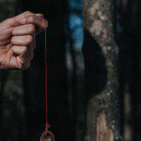 Pendulum for dowsing and to contact the plant world